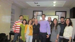 Ο κ. Κιουσόπουλος με την ομάδα μας